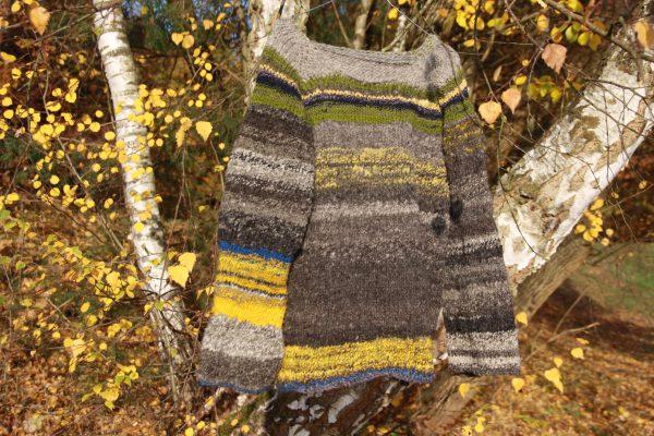 Merinowolle Pullover aus handgesponnenen Wolle, Schafwolle.