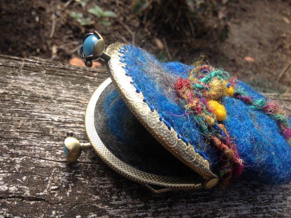 Geschenk Geldbörse Portemonnaie Geldbeutel Geldtasche Retro Vintage Boho Hippie gefilzt