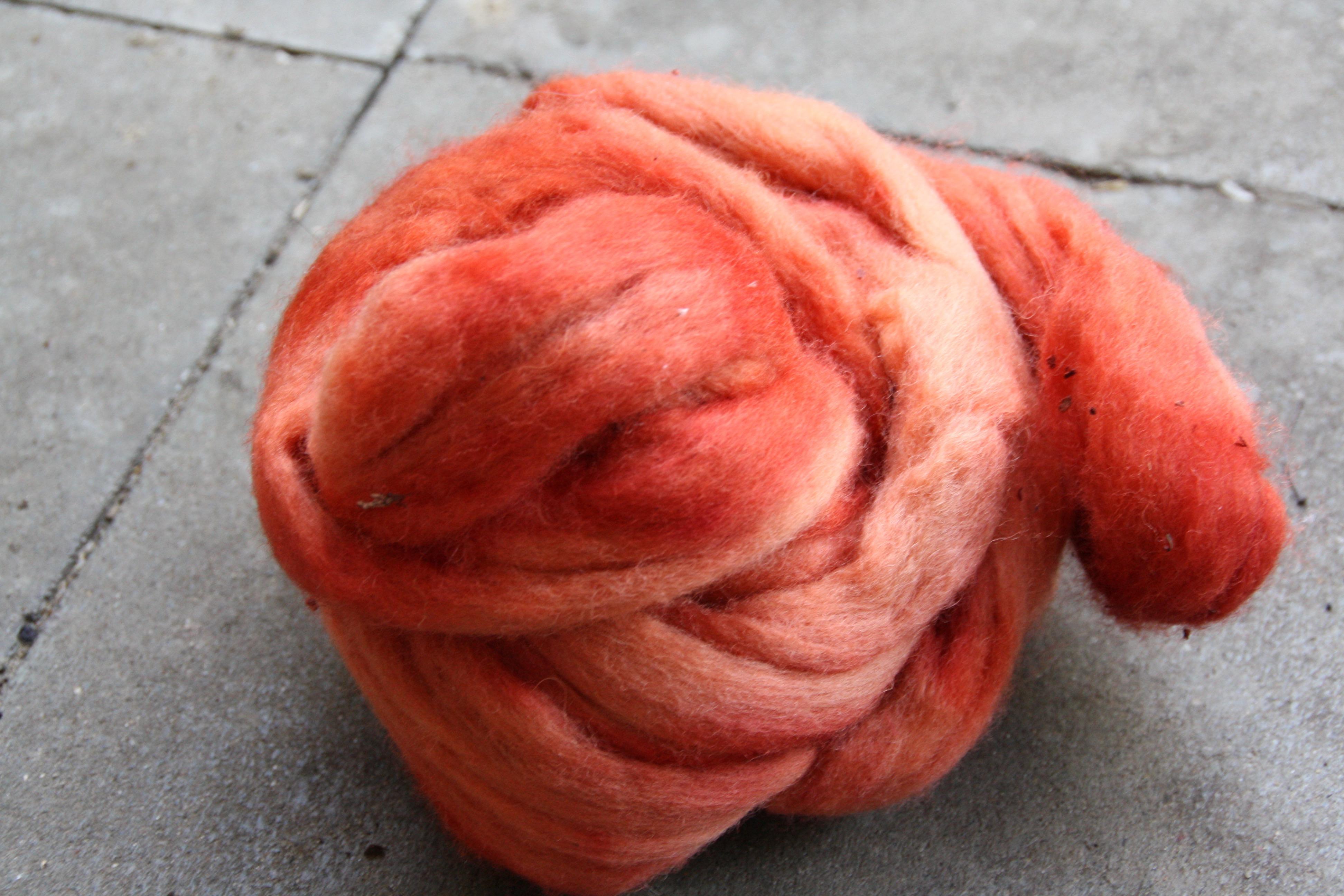 mit Krapp gefärbte Wolle